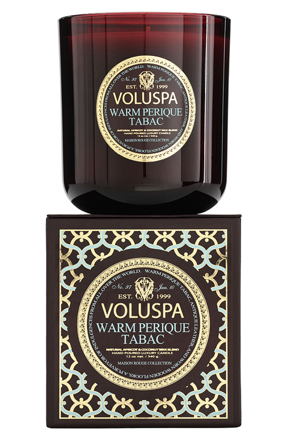 Alternate Image 1 Selected - Voluspa 'Maison Rouge - Warm Perique Tabac' Scented Candle