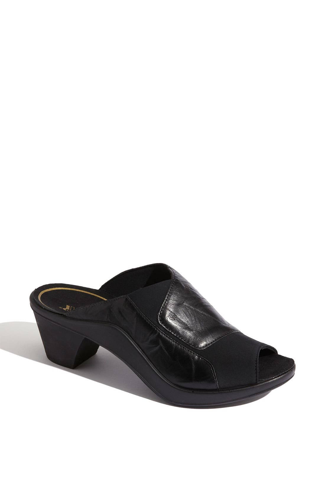'Mokasetta' Mule,                             Main thumbnail 1, color,                             Black
