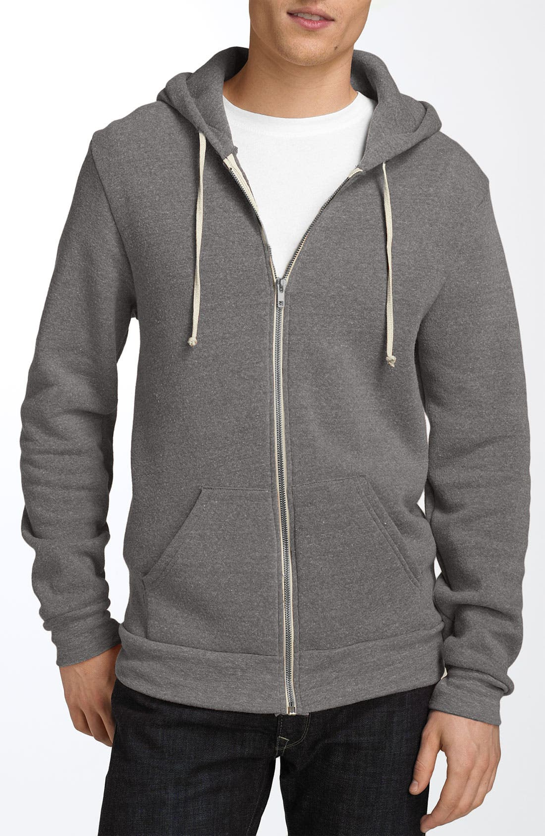 'Rocky' Trim Fit Hoodie,                             Main thumbnail 1, color,                             Grey Heather