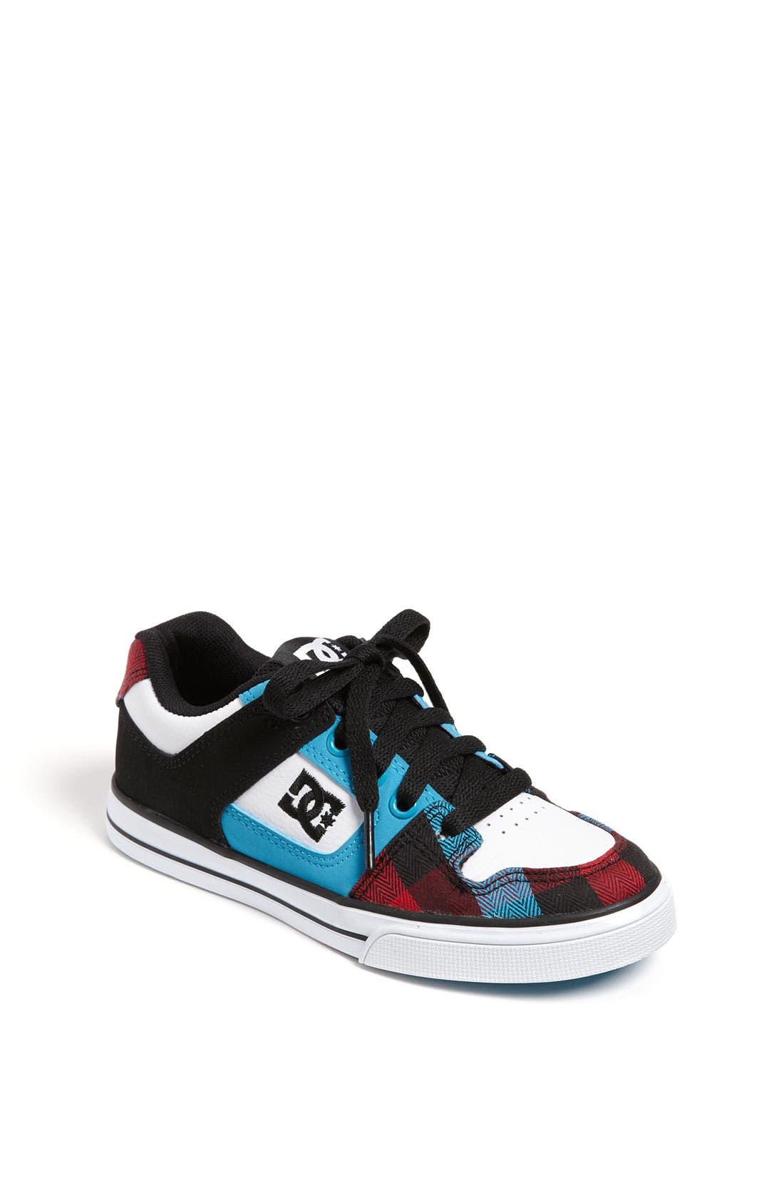 Alternate Image 1 Selected - DC Shoes 'Pure' Sneaker (Toddler, Little Kid & Big Kid)