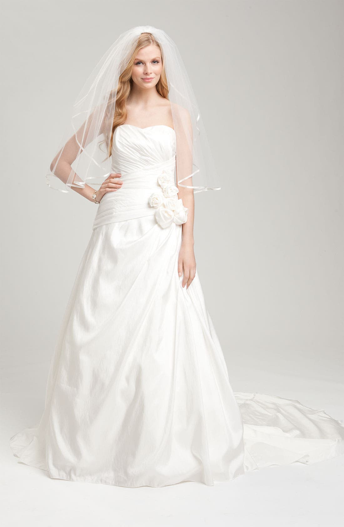 Alternate Image 3  - Faviana Ruched Taffeta Strapless Gown