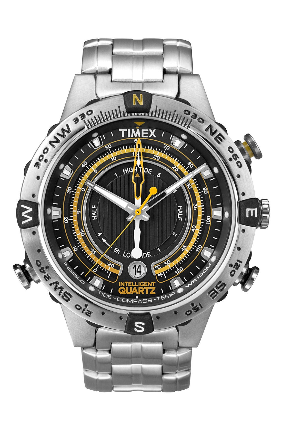 Alternate Image 1 Selected - Timex® 'Intelligent Quartz' Compass Bracelet Watch