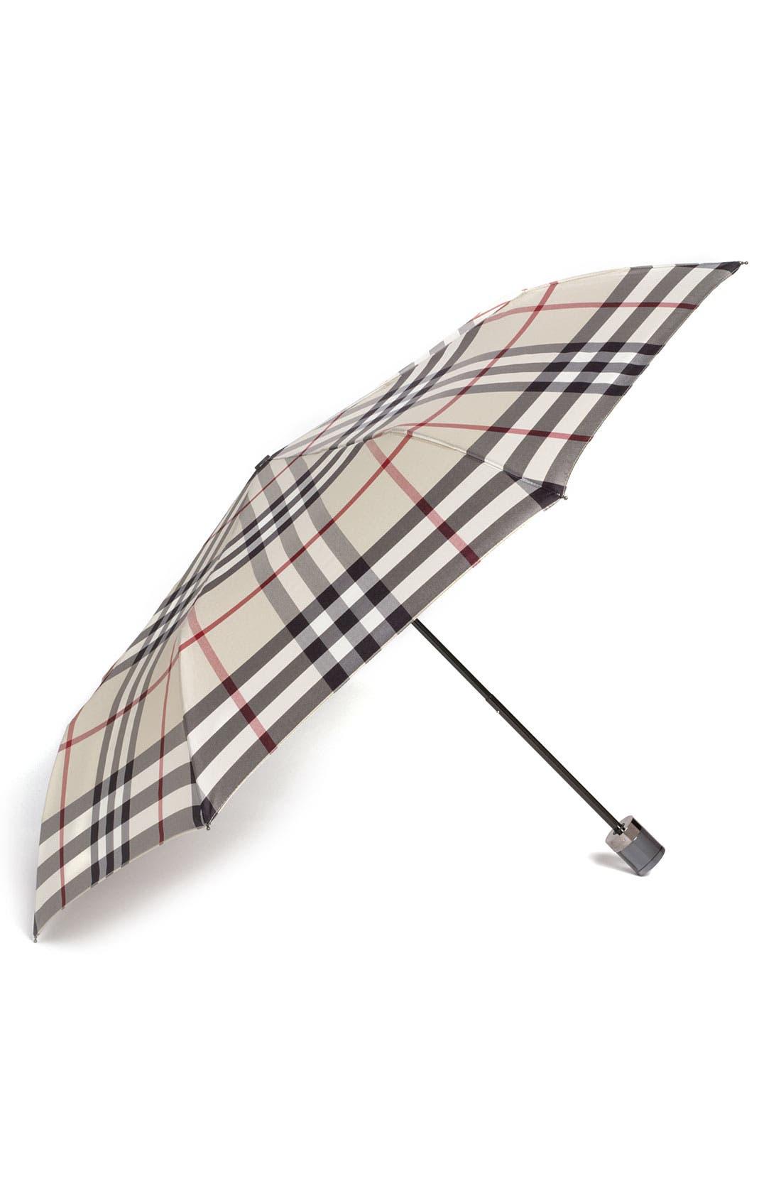 Main Image - Burberry Check Folding Umbrella