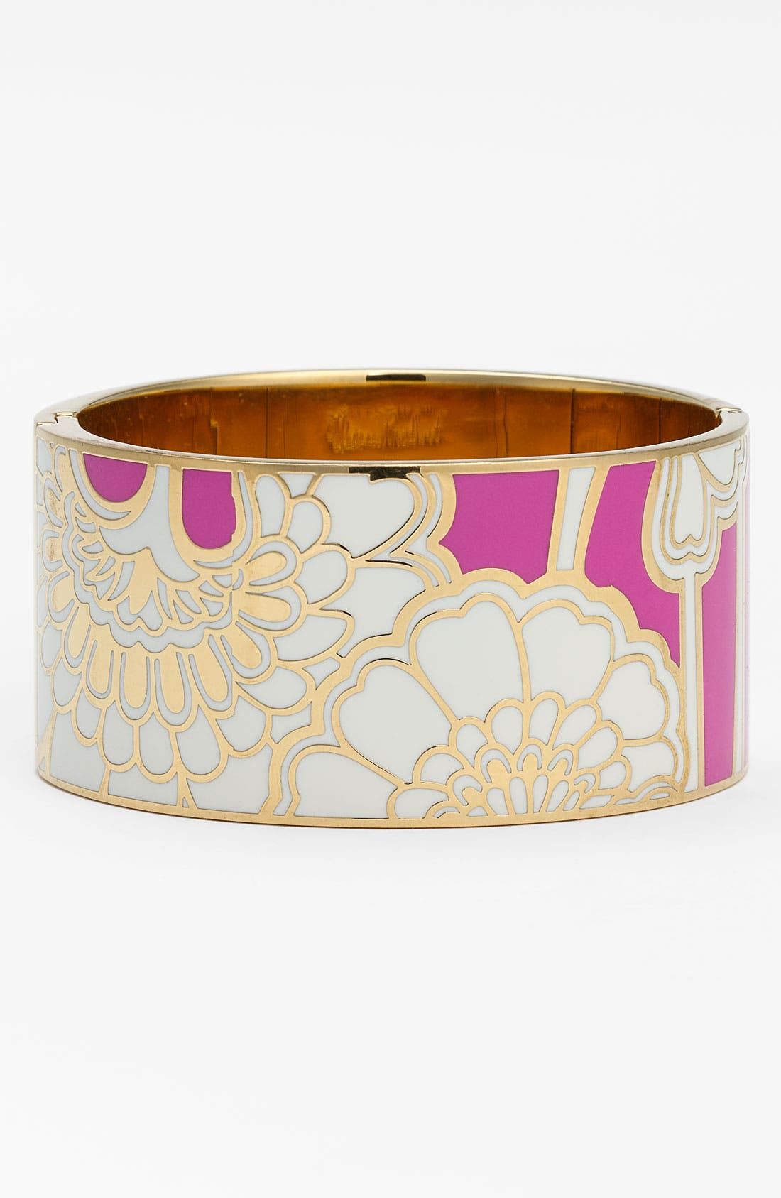 Main Image - kate spade new york 'idiom' wide hinged bangle (Nordstrom Exclusive)