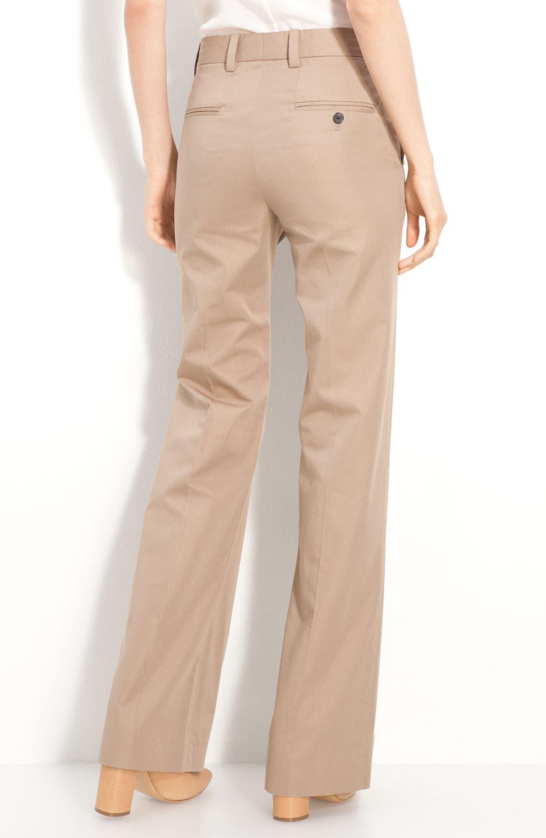 Alternate Image 2  - 3.1 Phillip Lim Wide Leg Micro Twill Trousers