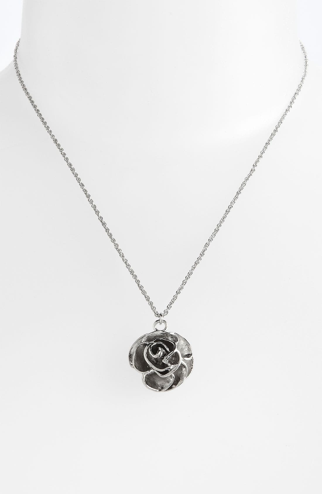 Alternate Image 1 Selected - Kendra Scott 'Michelle' Rose Pendant Necklace