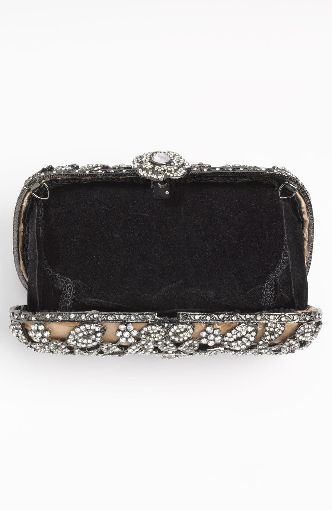 Alternate Image 4  - Natasha Couture Crystal Caged Floral Clutch