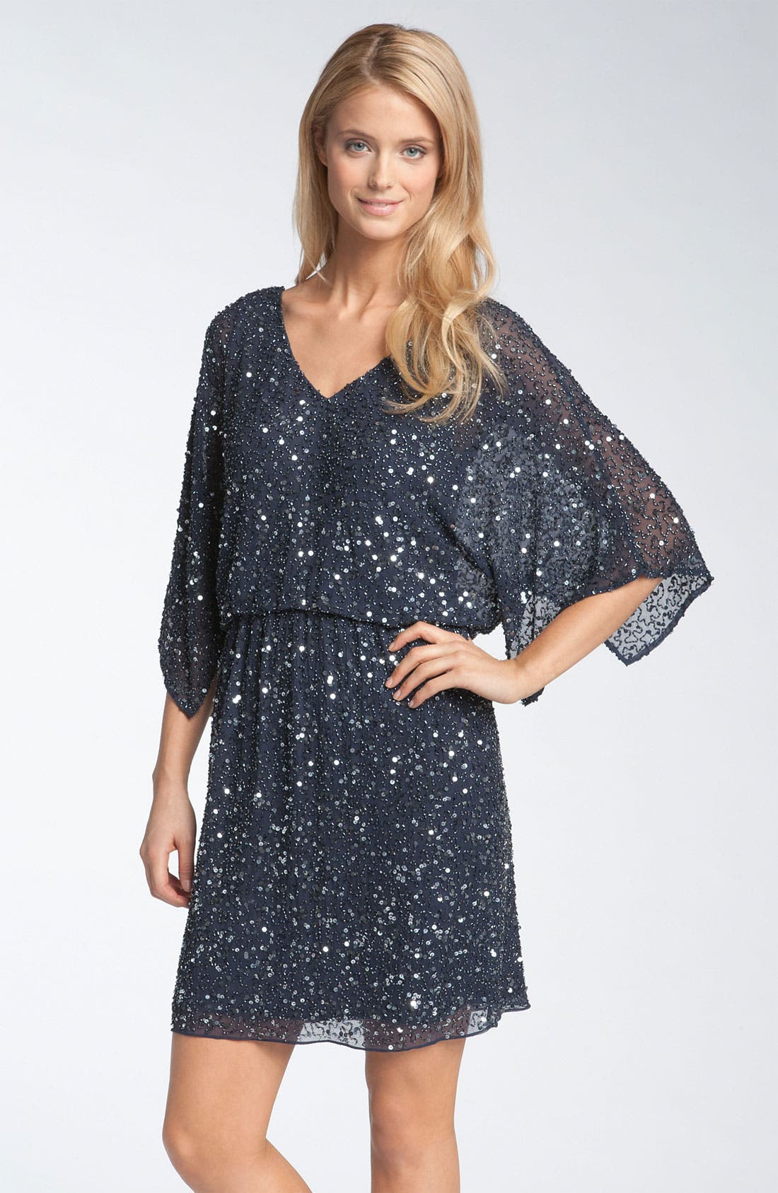 Main Image - Pisarro Nights Beaded Kimono Sleeve Dress
