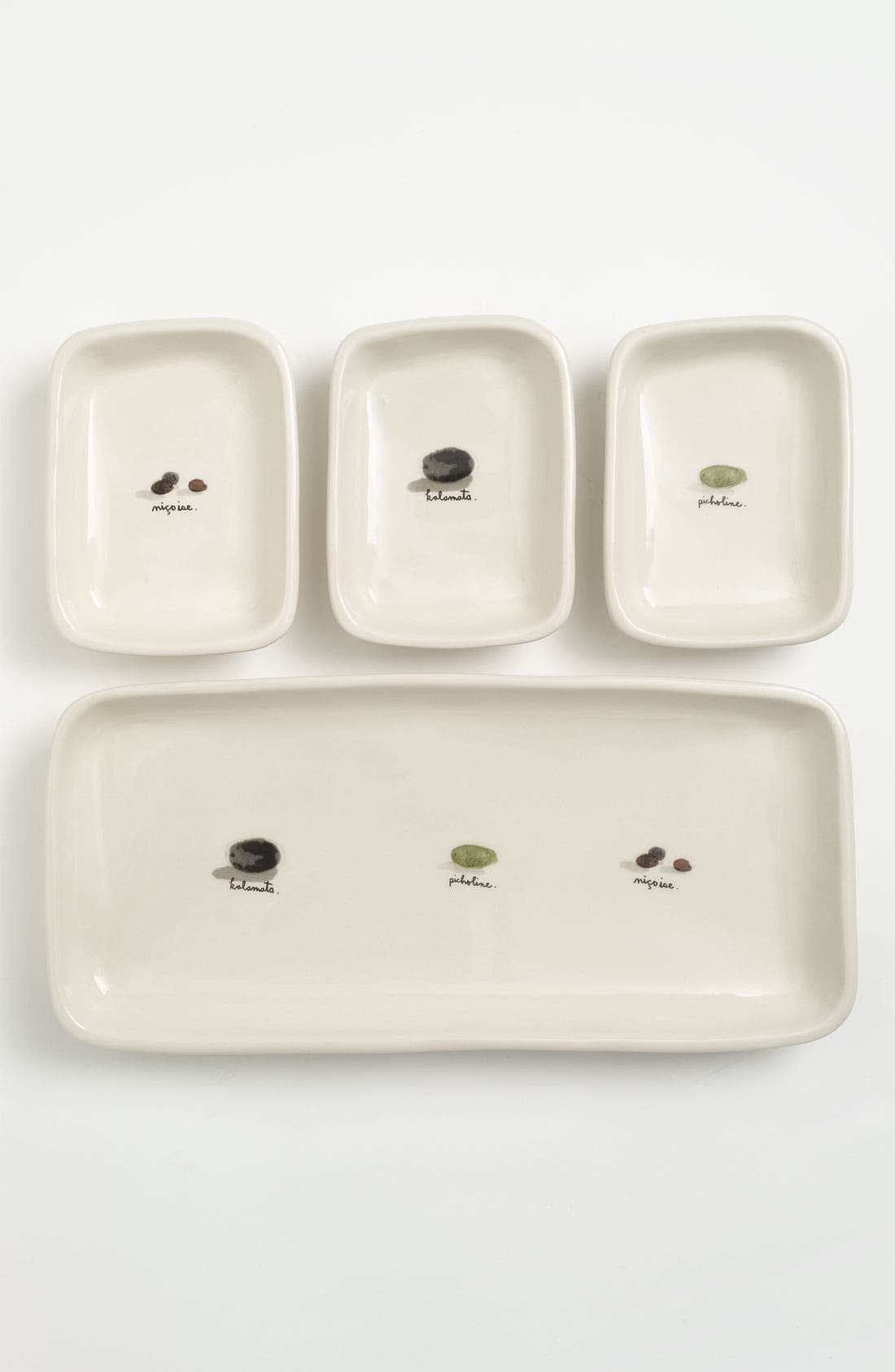 Alternate Image 1 Selected - Rae Dunn by Magenta Olive Tray & Dish Set