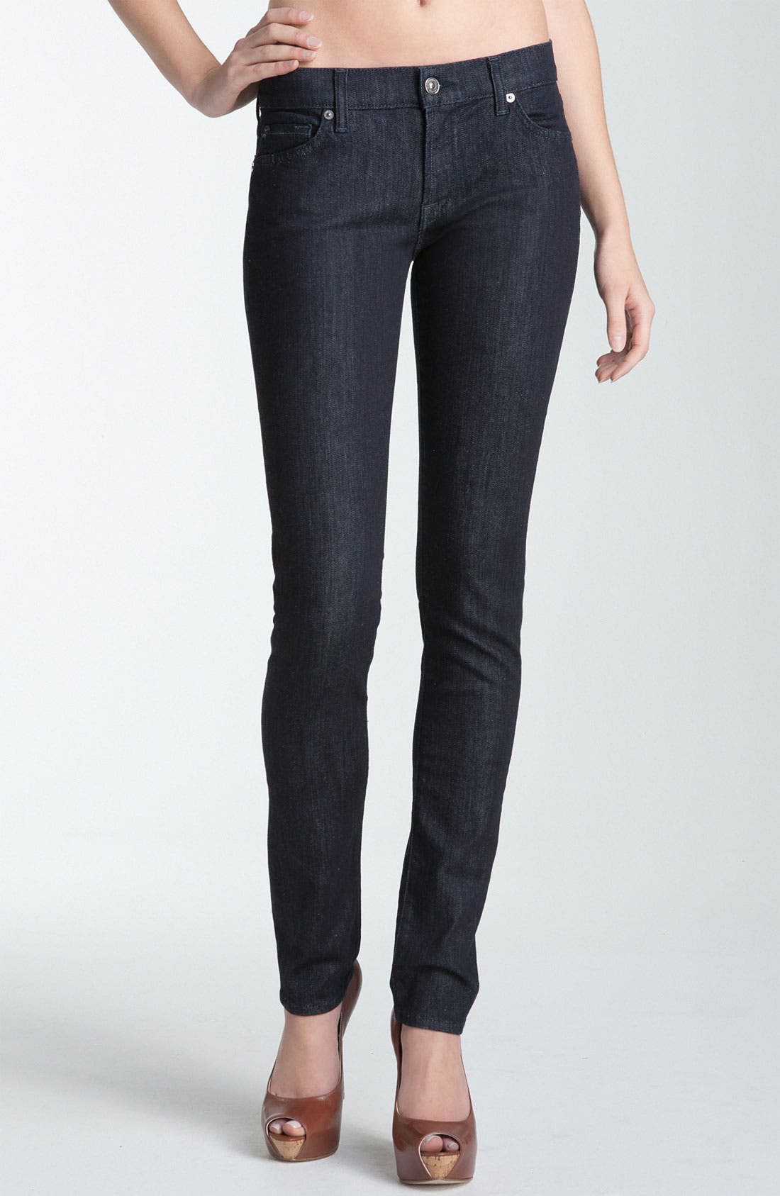 Alternate Image 1 Selected - 7 For All Mankind® 'Roxanne' Skinny Stretch Jeans (New Rinse)