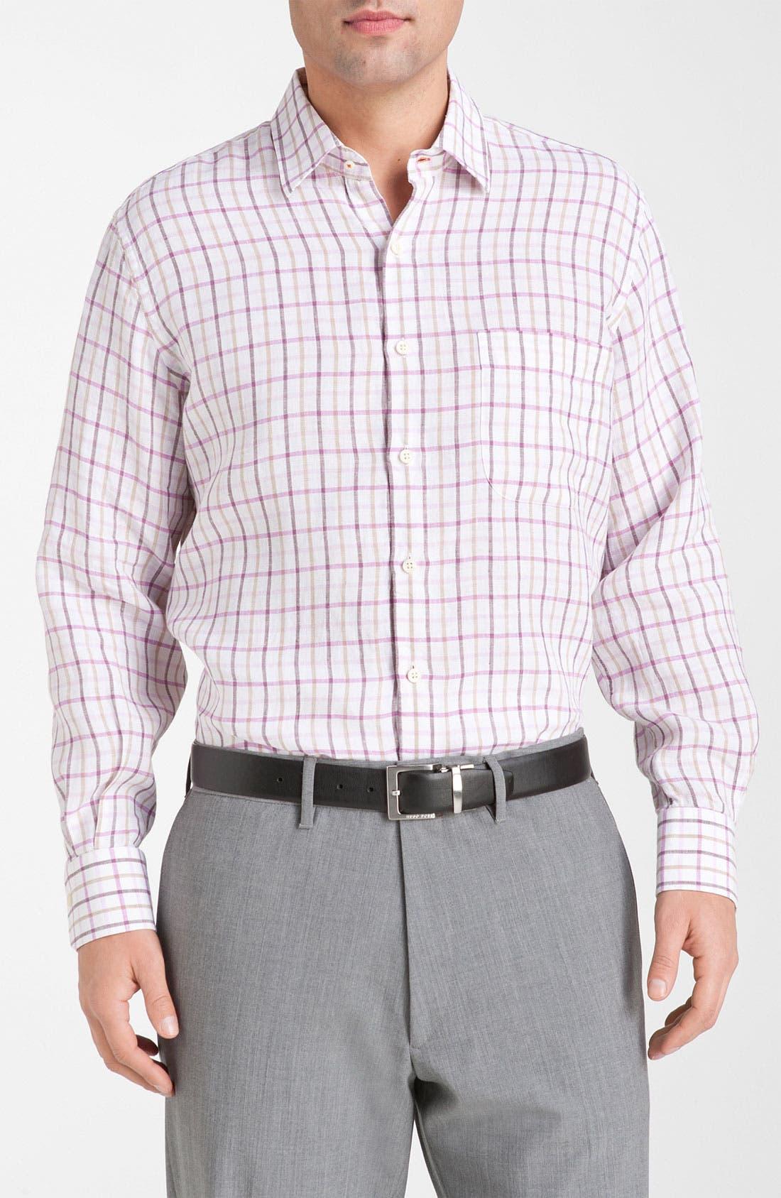 Alternate Image 1 Selected - Peter Millar Regular Fit Linen Sport Shirt
