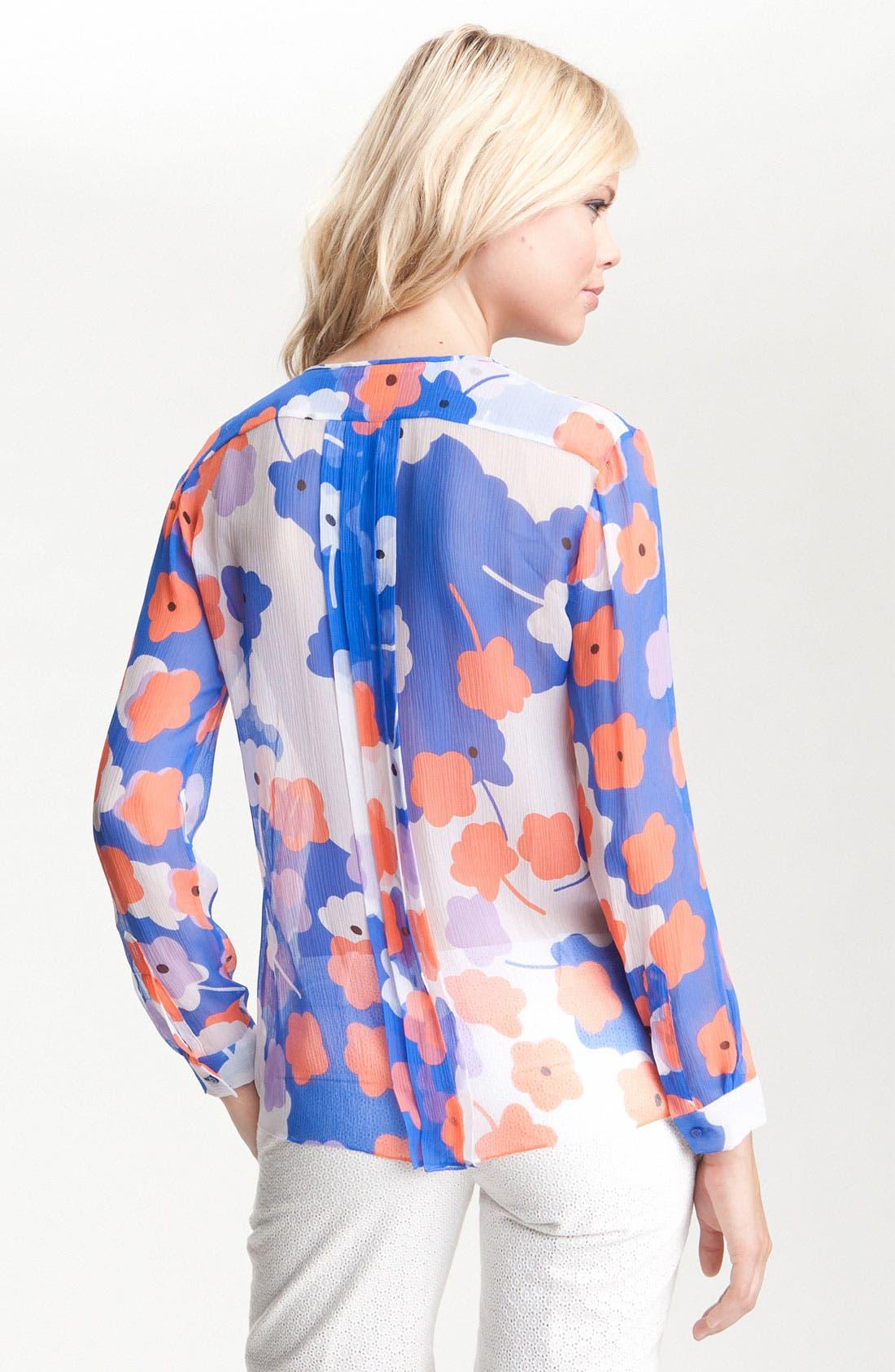 Alternate Image 2  - Diane von Furstenberg 'Francesca' Sheer Print Silk Blouse
