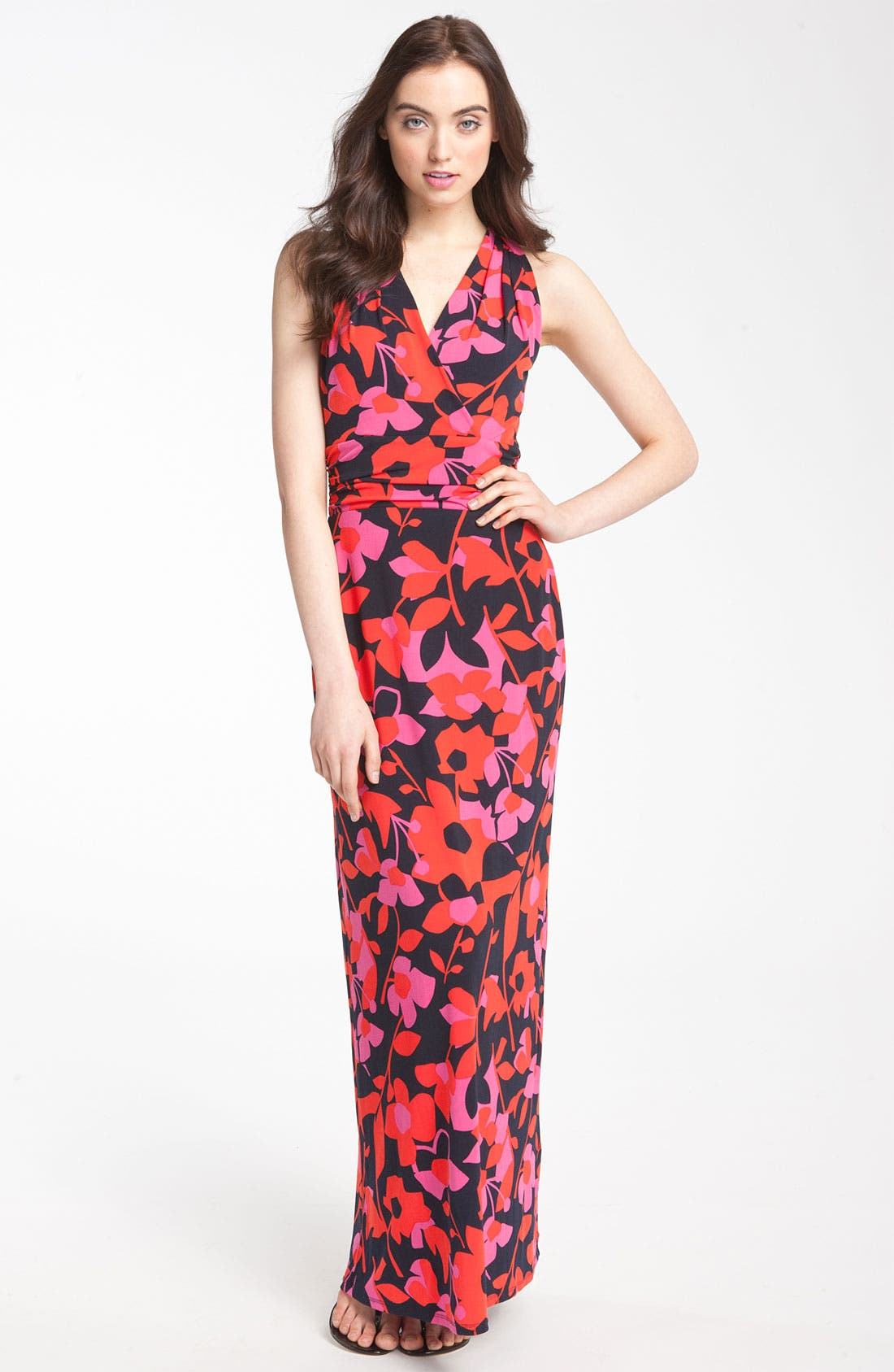 Alternate Image 1 Selected - Vince Camuto 'Island Cutout' Print Maxi Dress