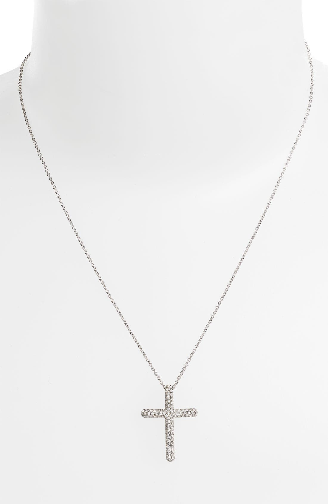 Alternate Image 1 Selected - Nadri Small Cross Pendant Necklace (Nordstrom Exclusive)