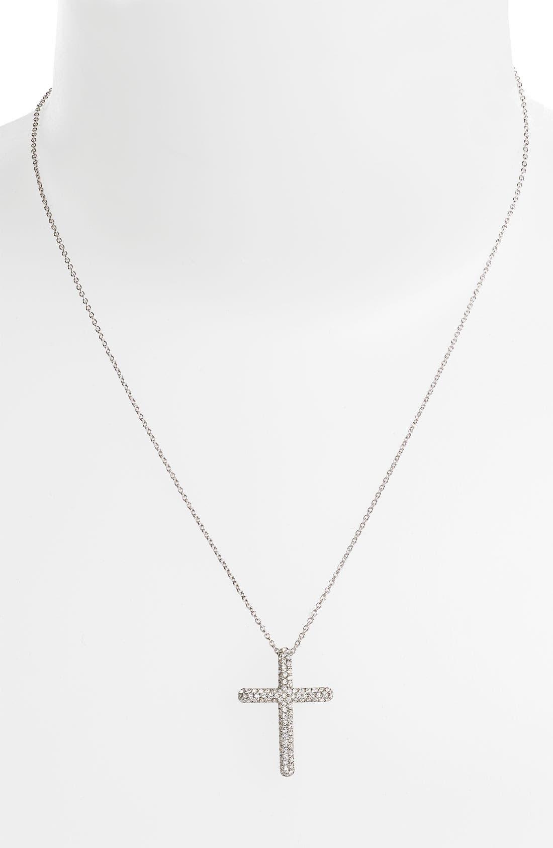 Main Image - Nadri Small Cross Pendant Necklace (Nordstrom Exclusive)