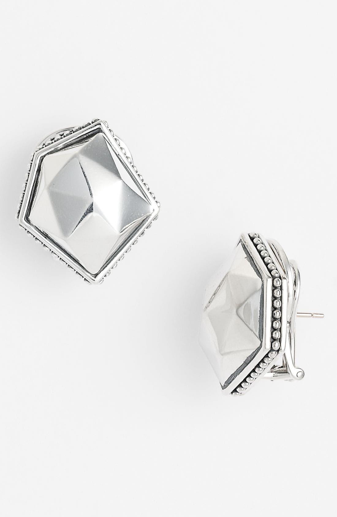 Main Image - LAGOS 'Silver Rocks' Angled Earrings