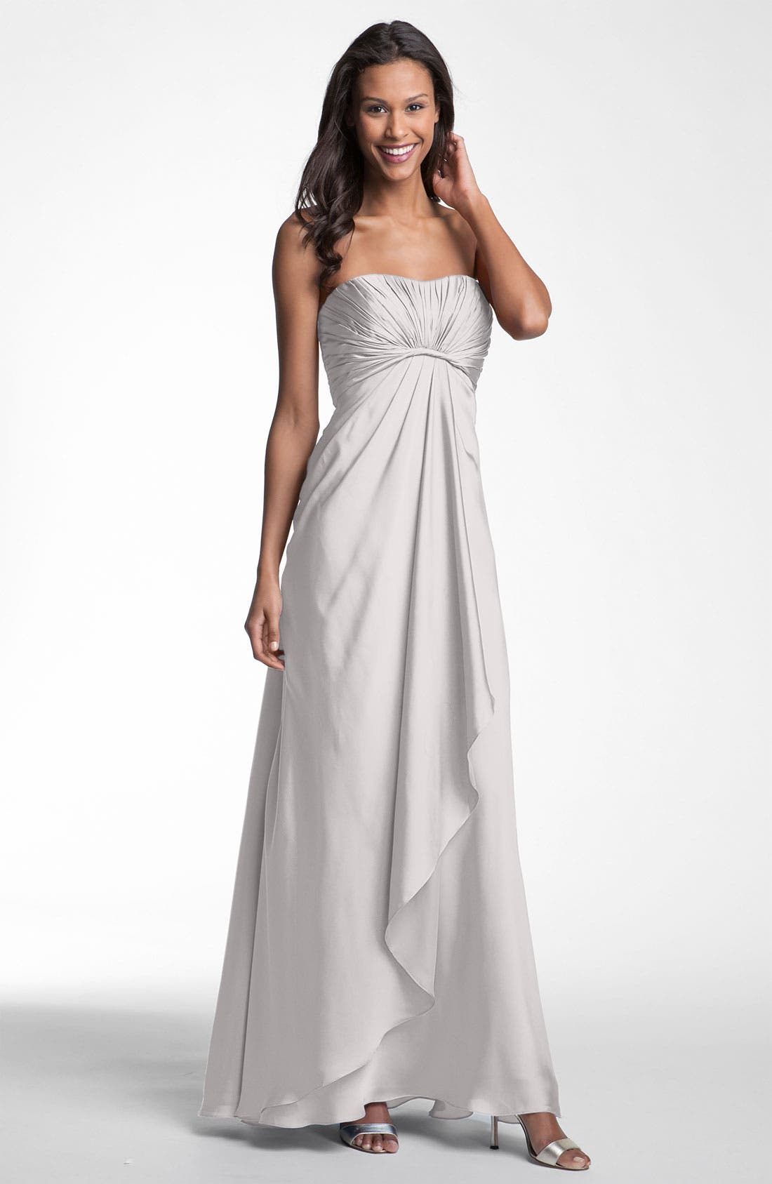 Main Image - ML Monique Lhuillier Bridesmaids Strapless Gown (Nordstrom Exclusive)