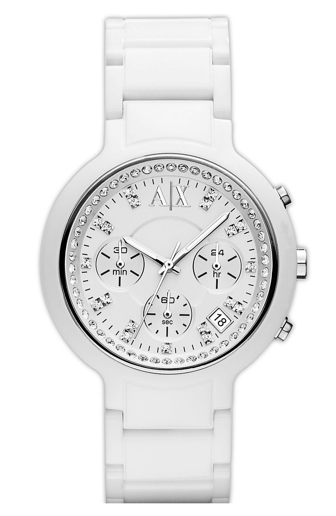 Main Image - AX Armani Exchange Chronograph Resin Watch