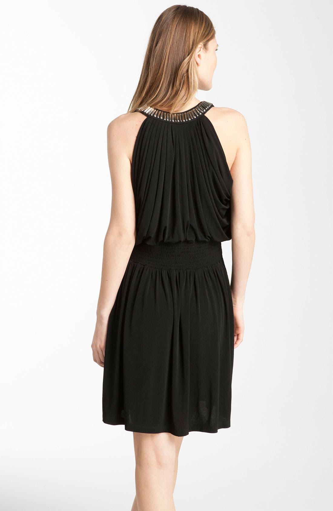 Alternate Image 2  - Calvin Klein Embellished Draped Jersey Dress