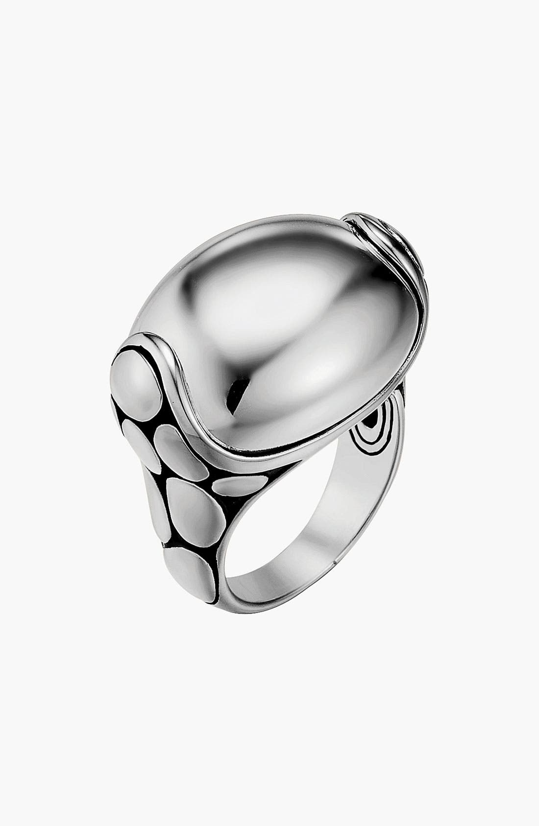 Alternate Image 1 Selected - John Hardy 'Kali Silver' Medium Pebble Ring