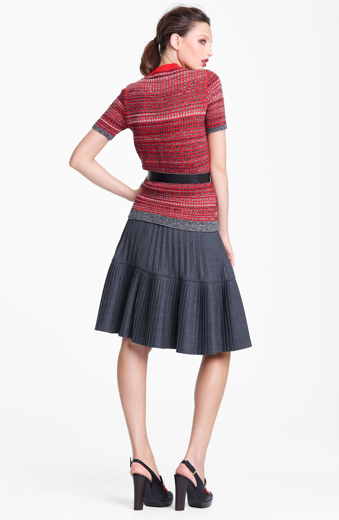 Alternate Image 6  - Marni Edition Pleated Mélange Flannel Skirt