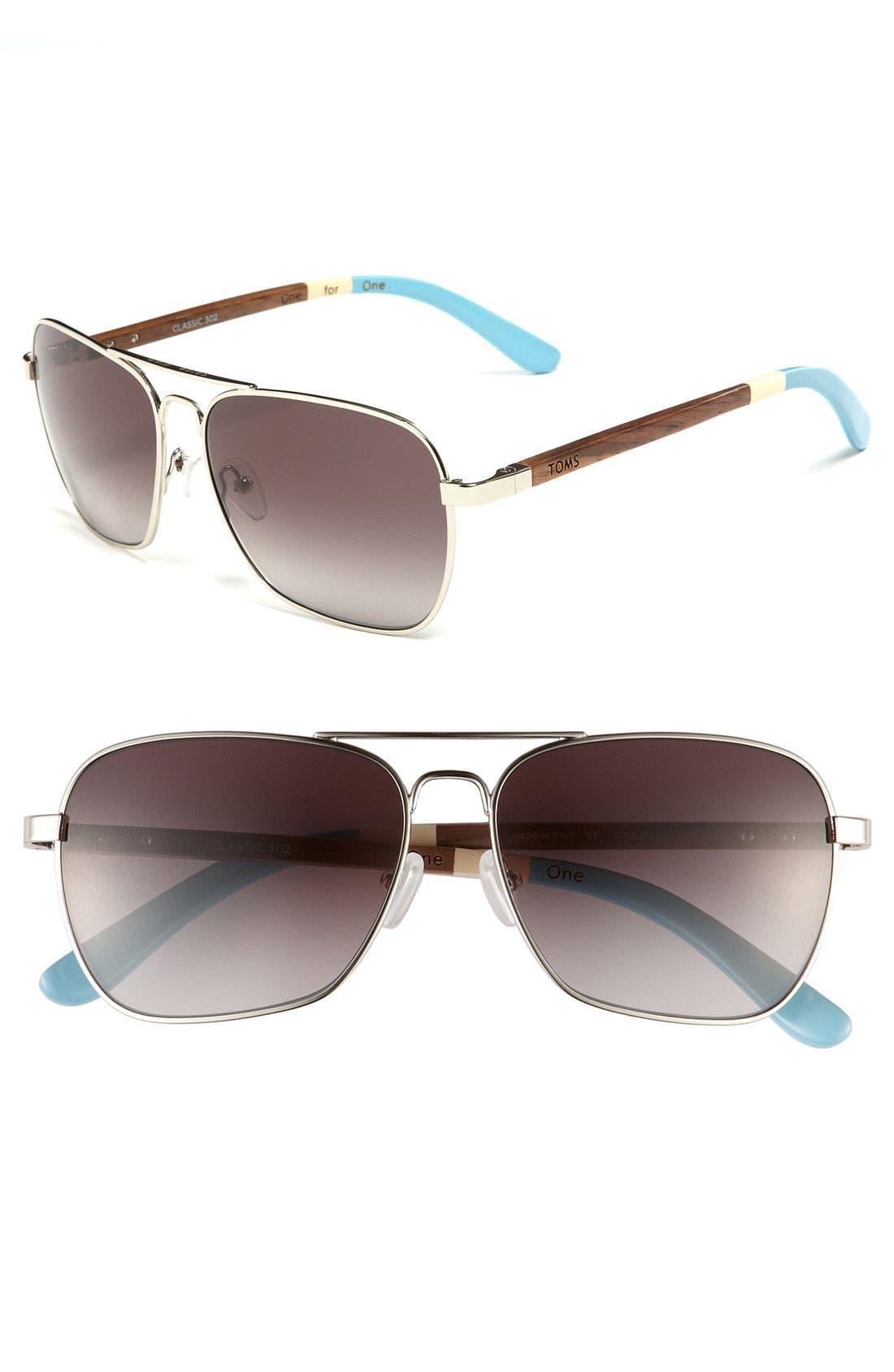 Main Image - TOMS 58mm Navigator Sunglasses
