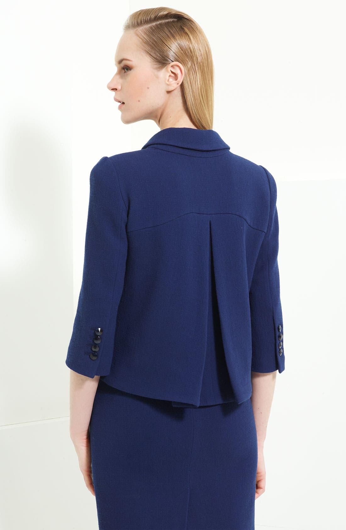 Alternate Image 2  - Armani Collezioni Crepe Jacket