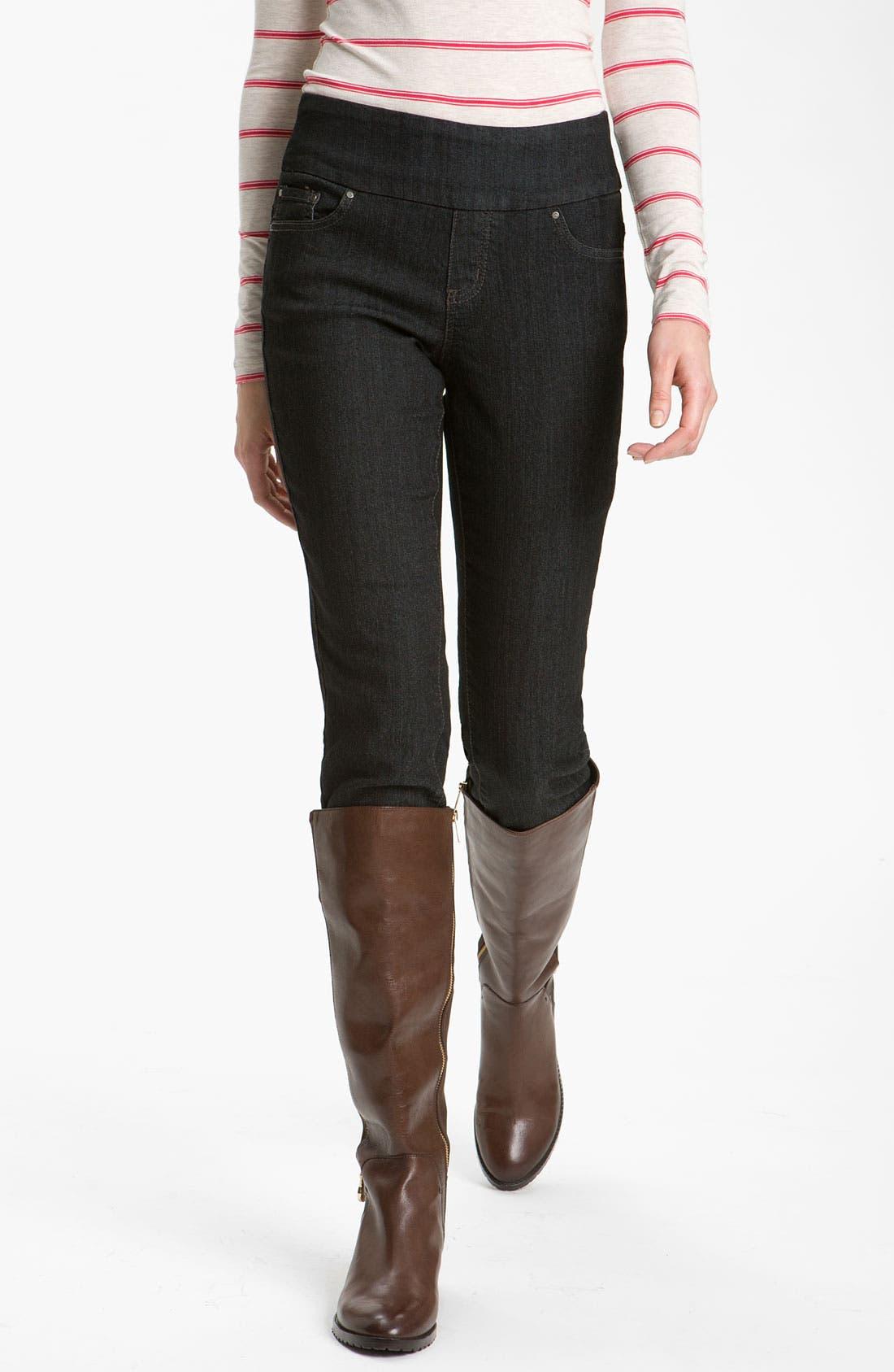 'Malia' Slim Jeans,                         Main,                         color, Black Rinse