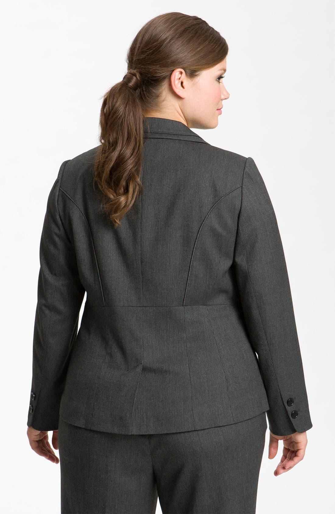 Alternate Image 2  - Sejour Tonal Trim Suit Jacket (Plus)