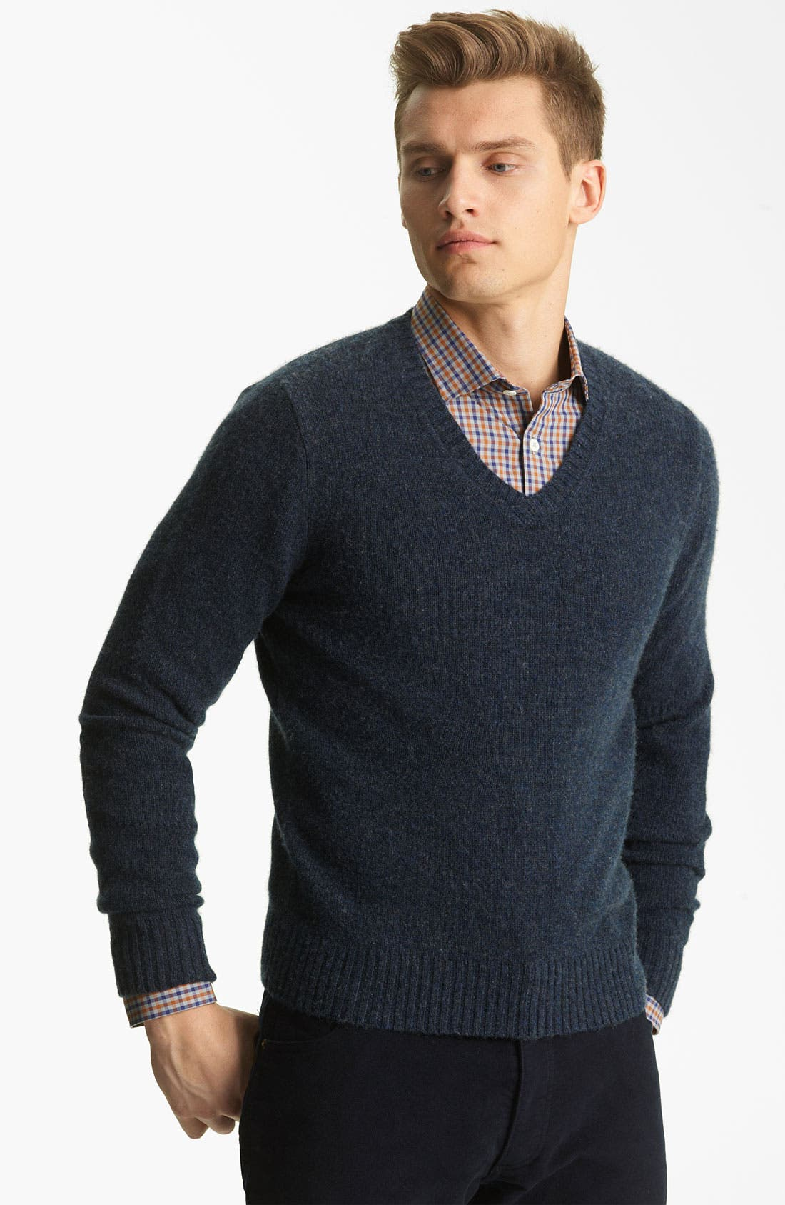 Alternate Image 1 Selected - Billy Reid 'Landry' Cashmere V-Neck Sweater