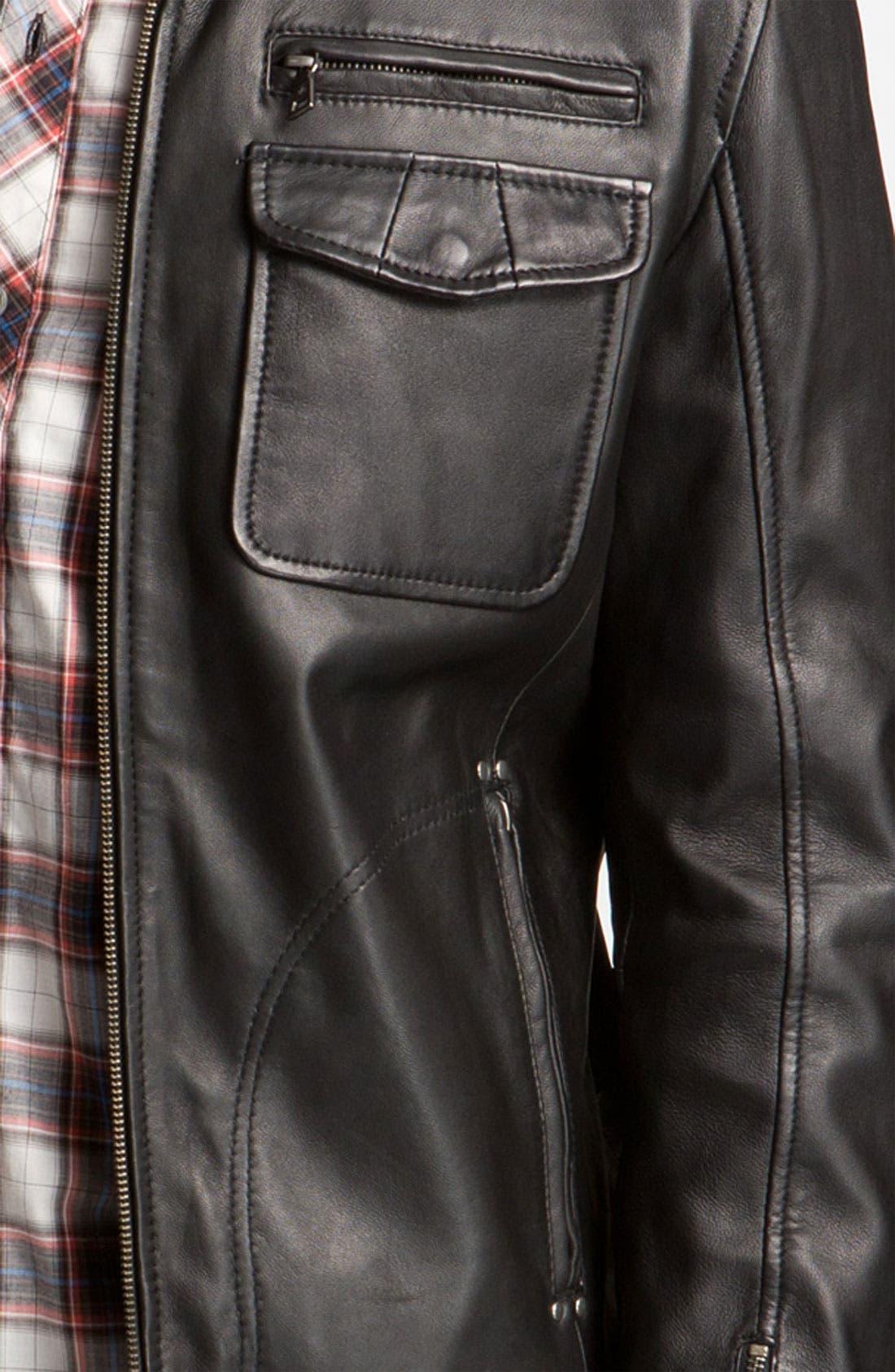 Alternate Image 4  - 7 Diamonds 'Manila' Trim Fit Leather Jacket