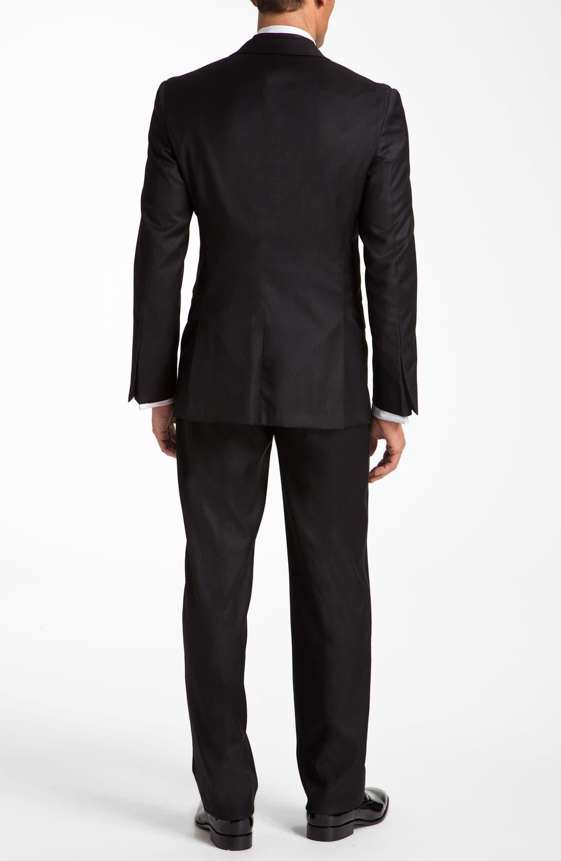 Alternate Image 2  - Hickey Freeman Worsted Wool Tuxedo