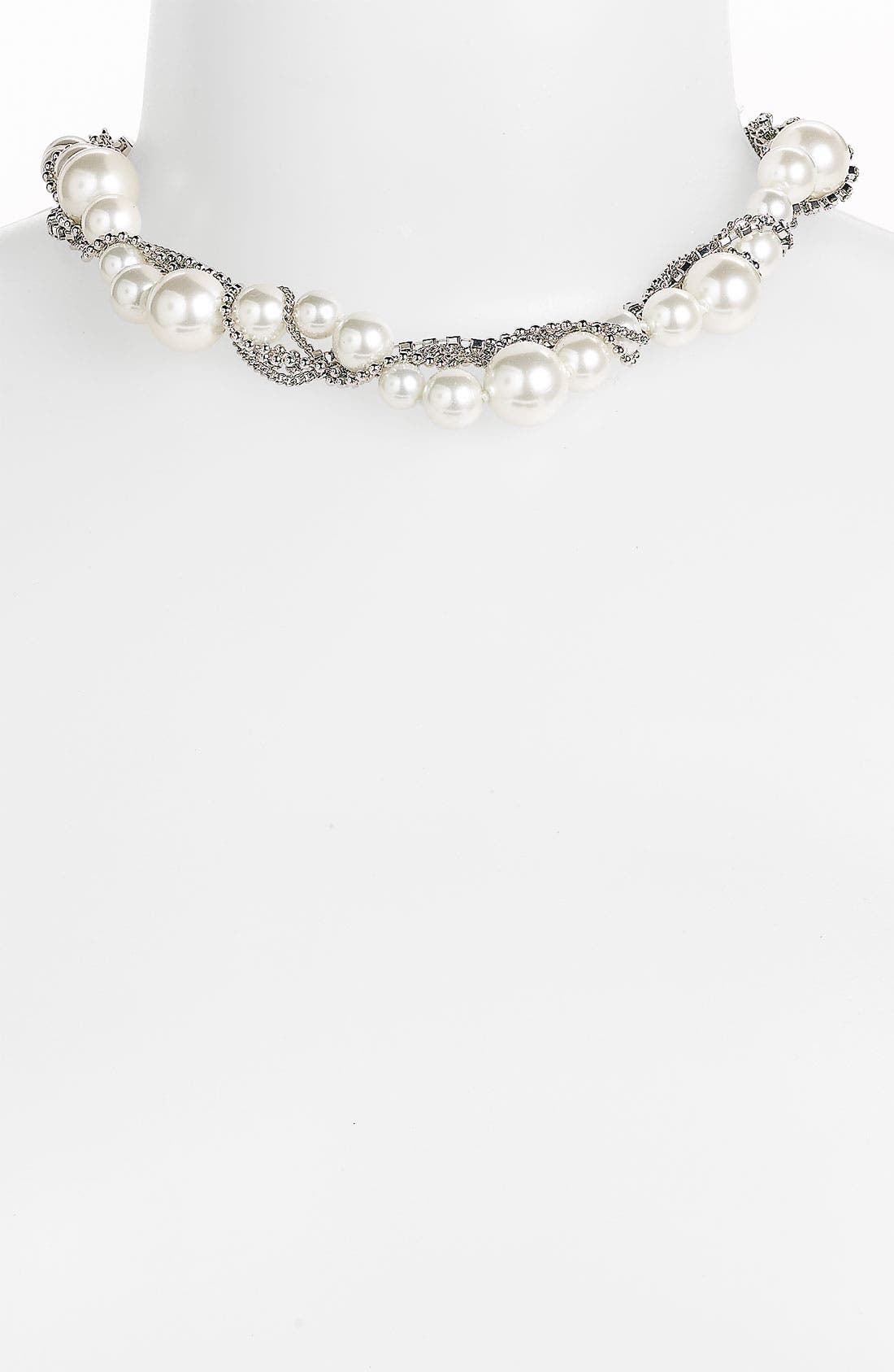 Main Image - Givenchy Glass Pearl & Chain Collar Necklace