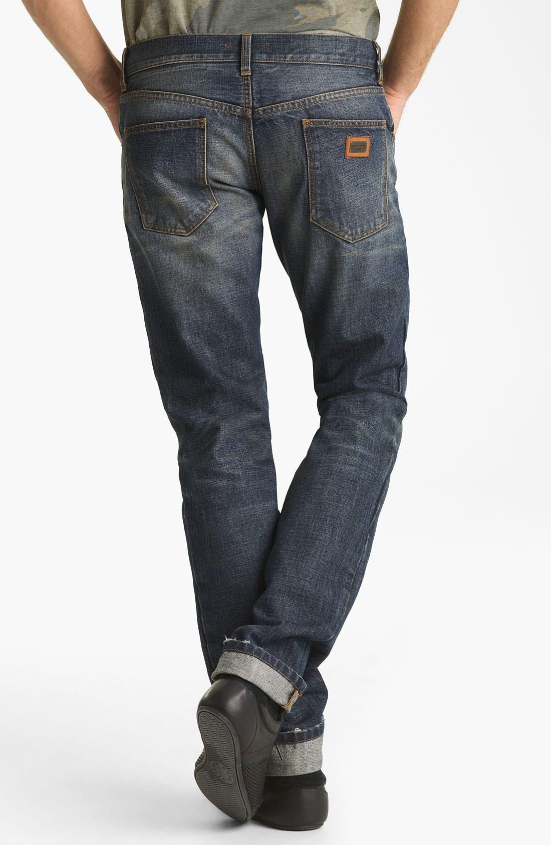 Main Image - Dolce&Gabbana Slim Straight Leg Jeans