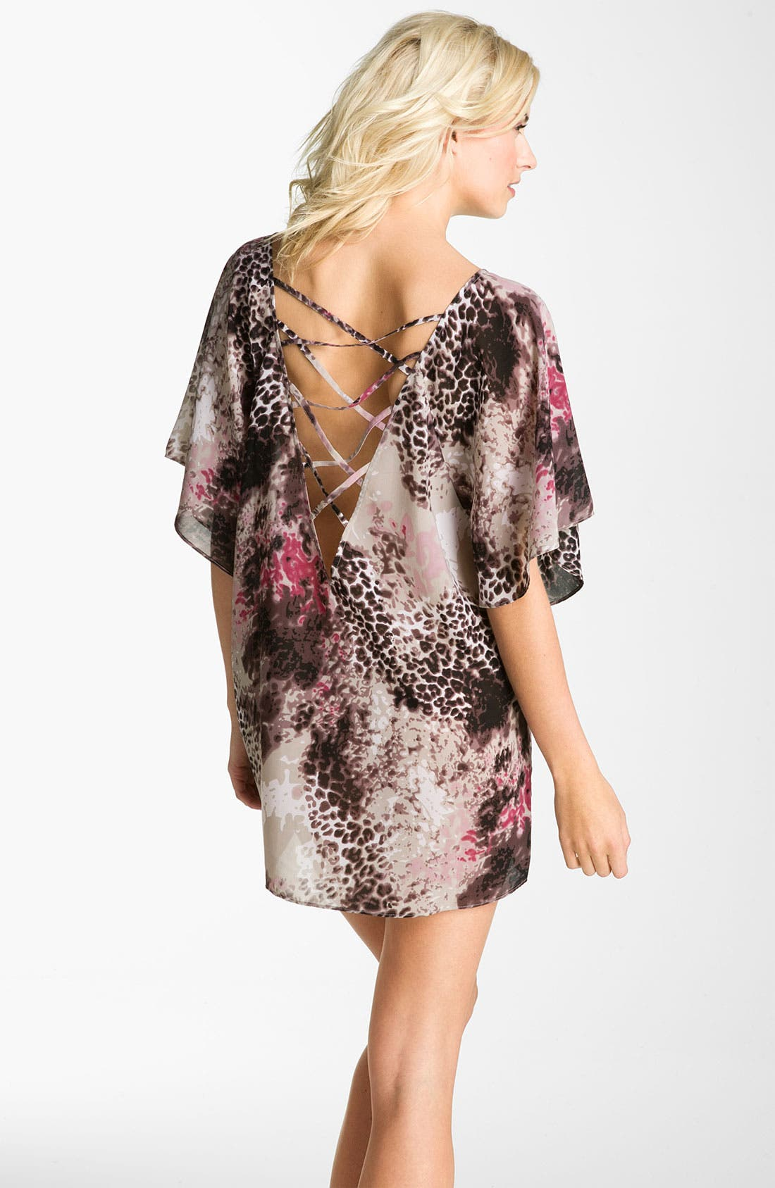 Alternate Image 2  - Halogen® Dolman Sleeve Tunic Cover-Up