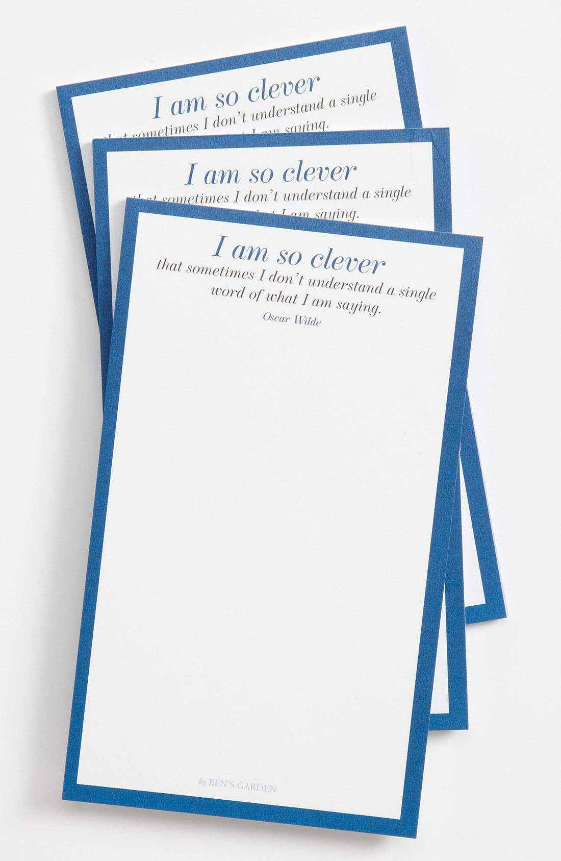 Alternate Image 1 Selected - Ben's Garden 'I Am So Clever' Notepads (3-Pack)
