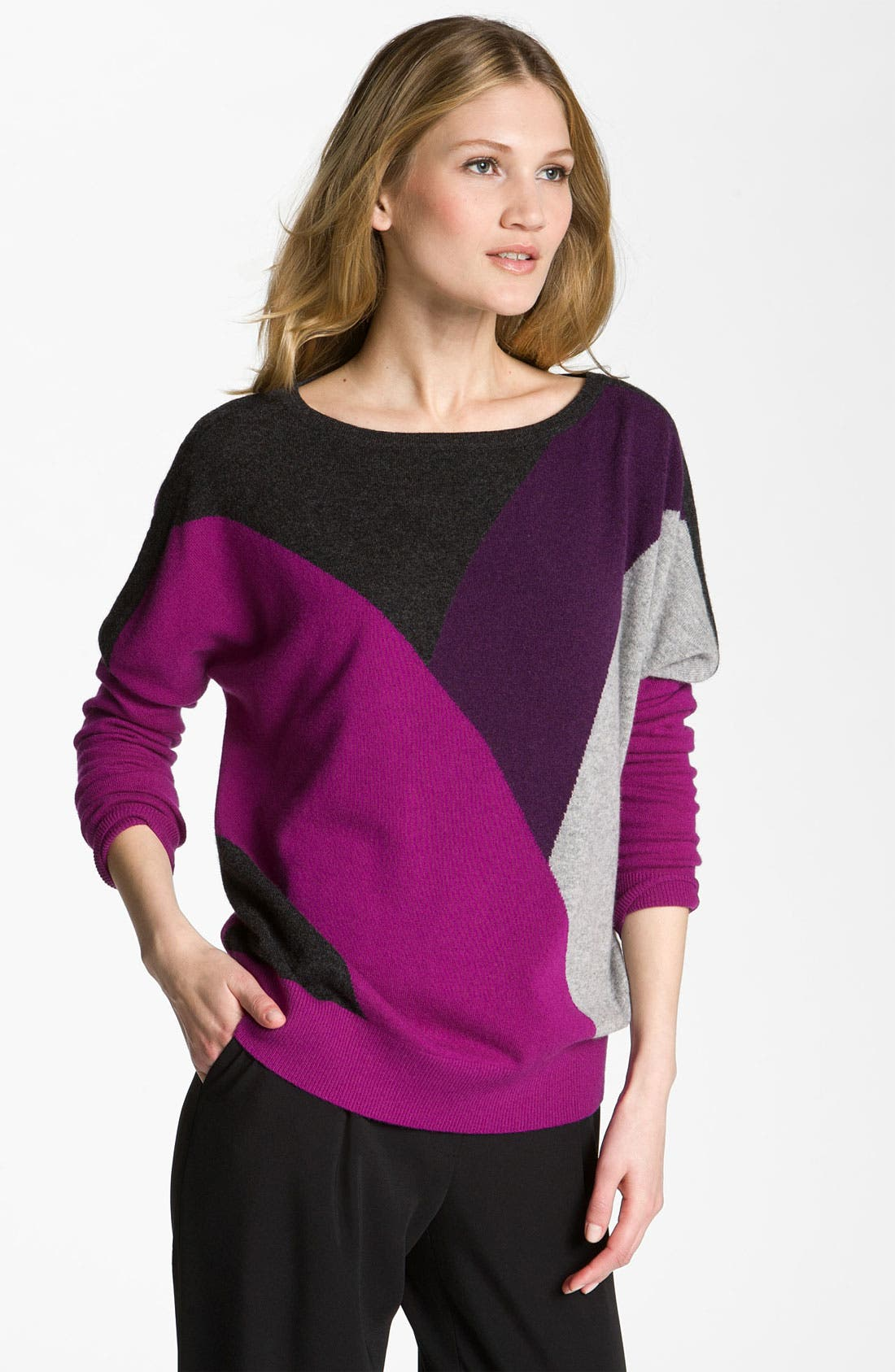 Main Image - Nordstrom Collection Colorblock Cashmere Sweater