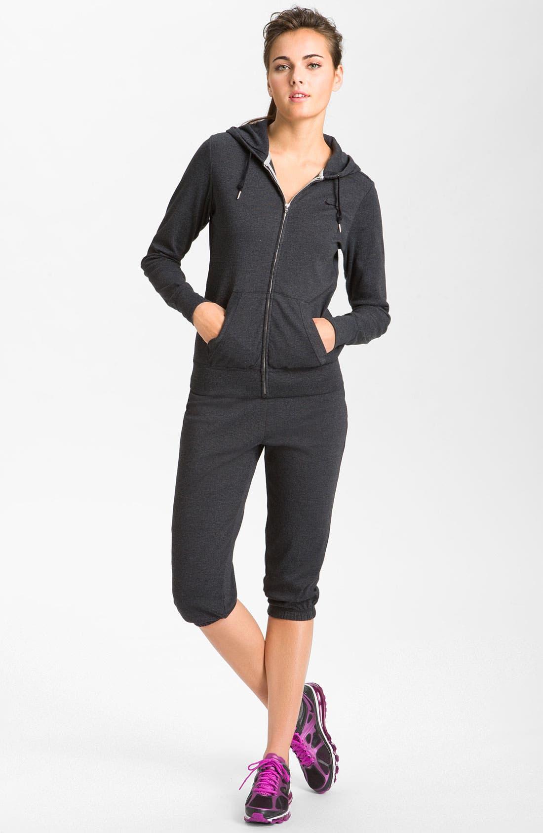 Alternate Image 4  - Nike Full Zip Jersey Hoodie