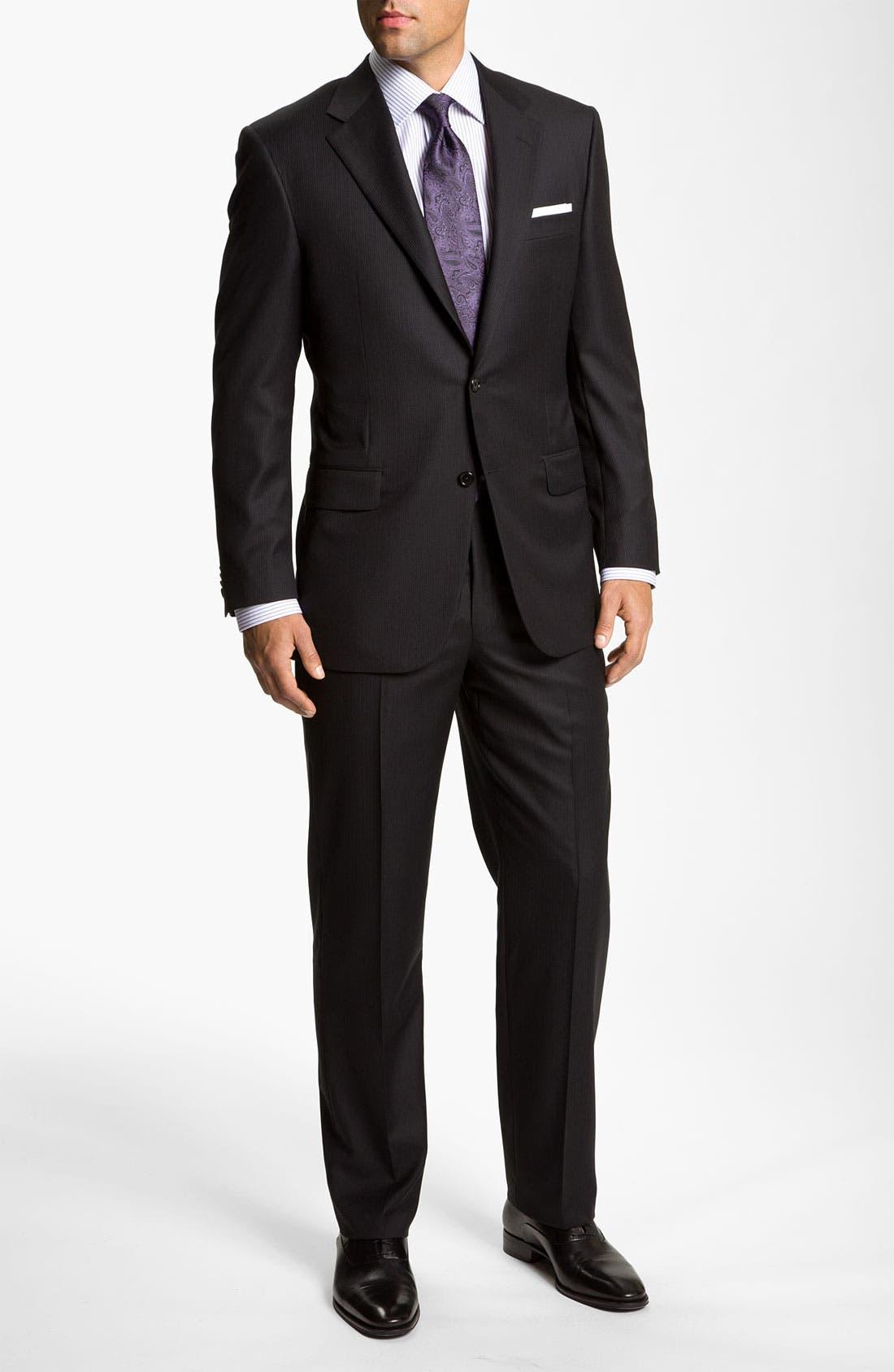 Alternate Image 2  - Hickey Freeman Stripe Suit