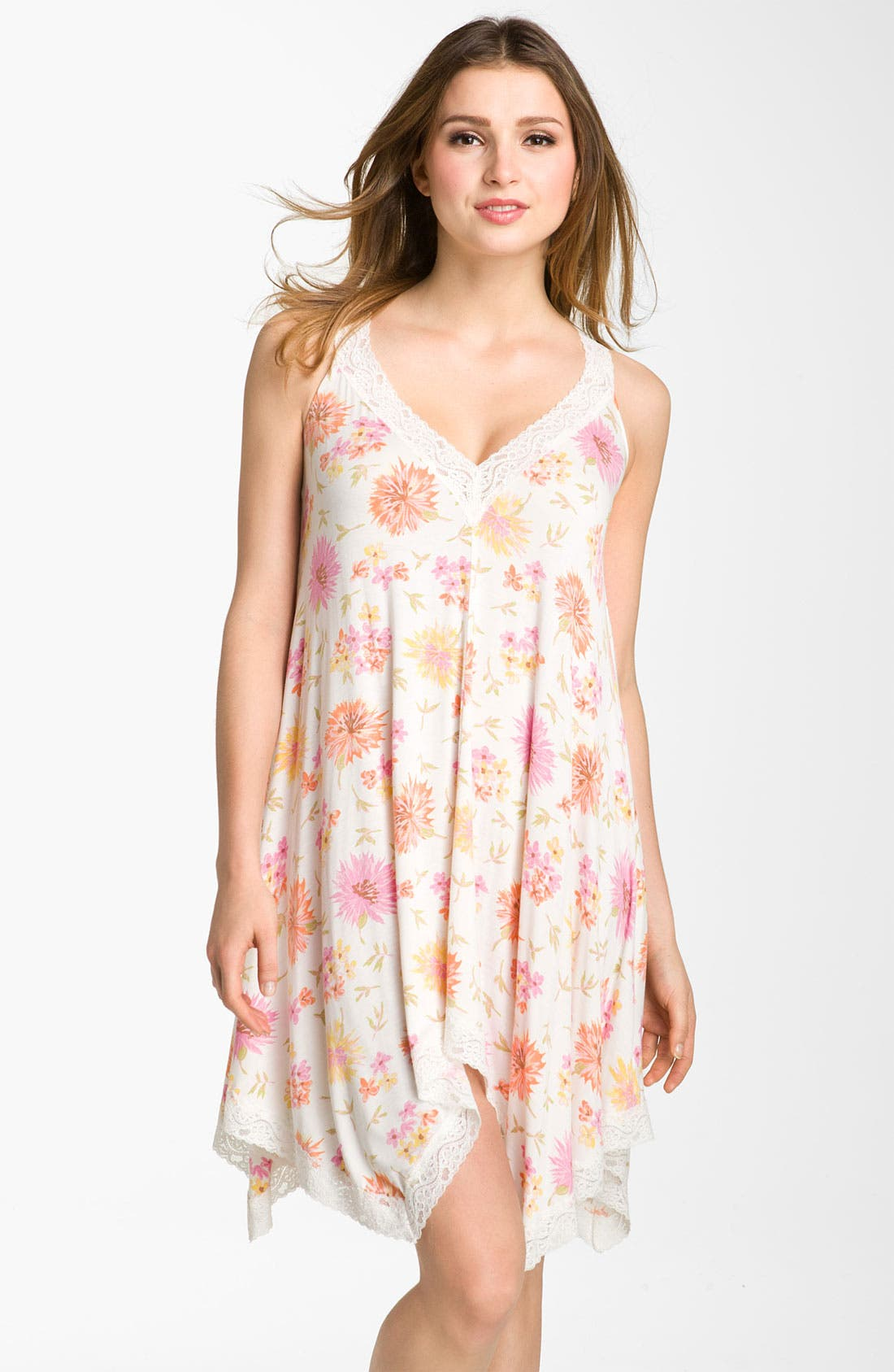 Alternate Image 1 Selected - Midnight by Carole Hochman 'Garden Sunset' Chemise