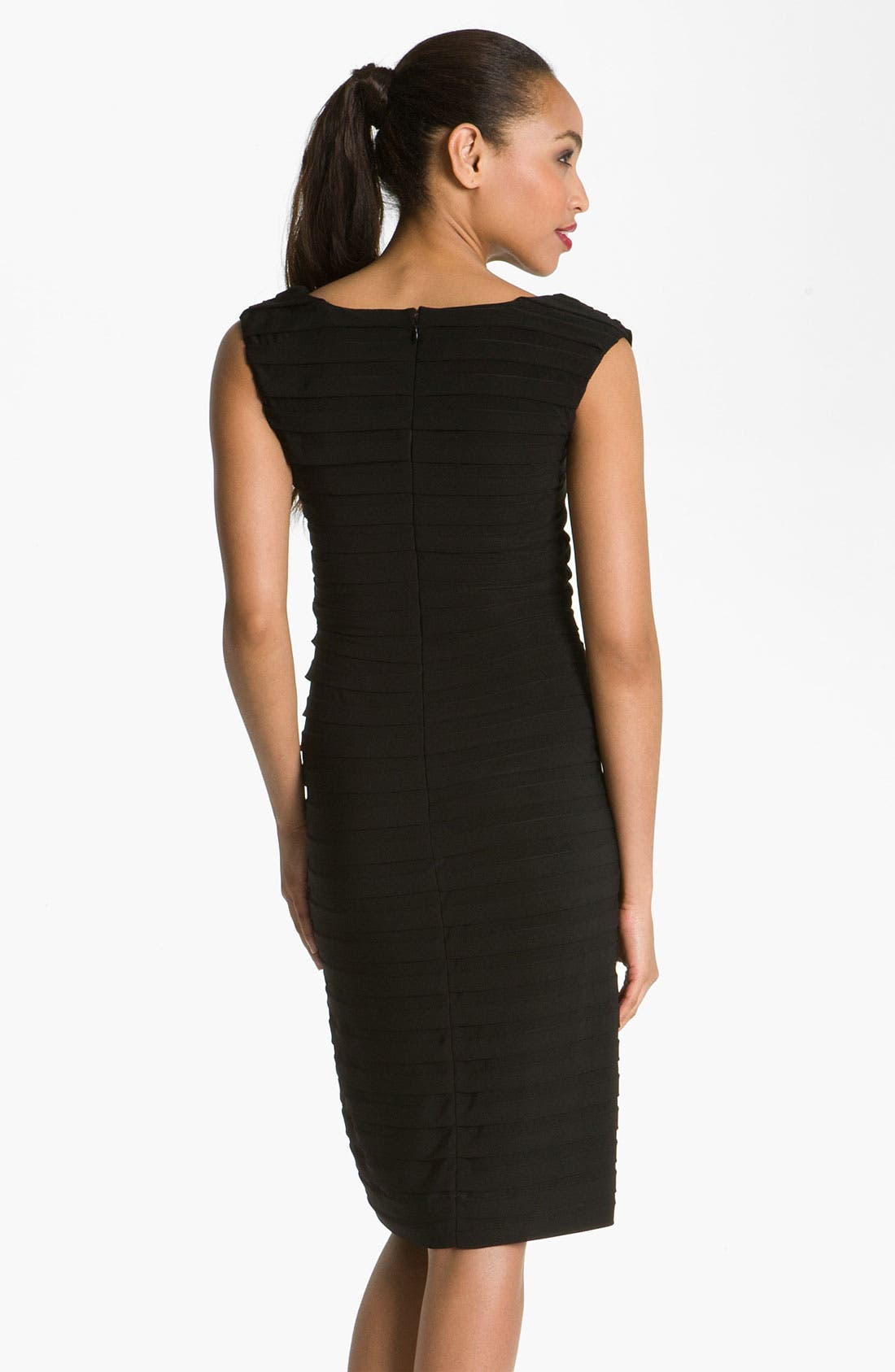 Alternate Image 2  - Adrianna Papell Pleated Sheath Dress