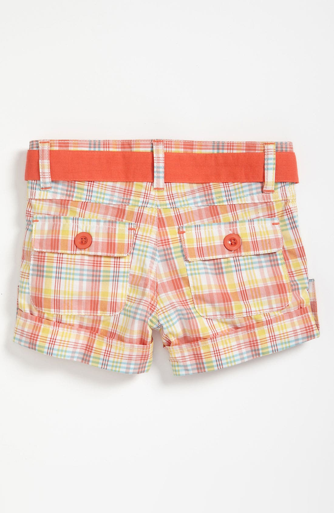 Alternate Image 2  - Pumpkin Patch Plaid Shorts (Toddler)
