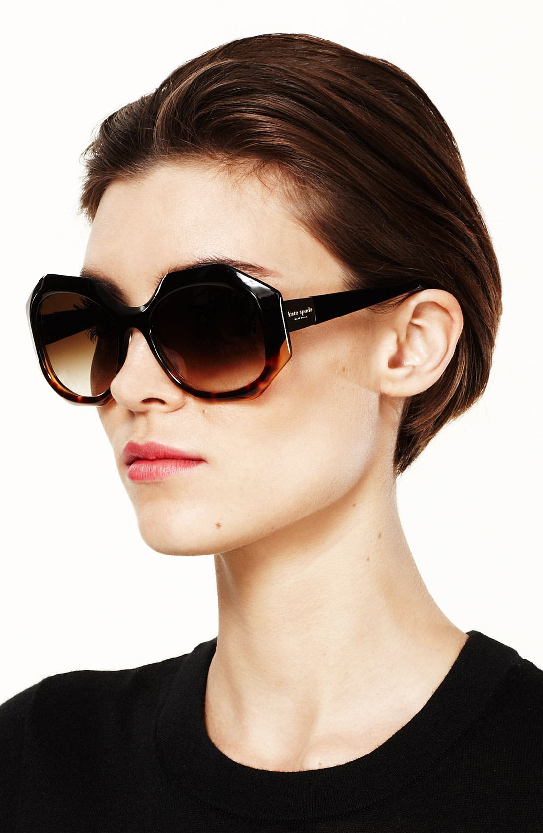 Alternate Image 3  - kate spade new york Oversized retro sunglasses
