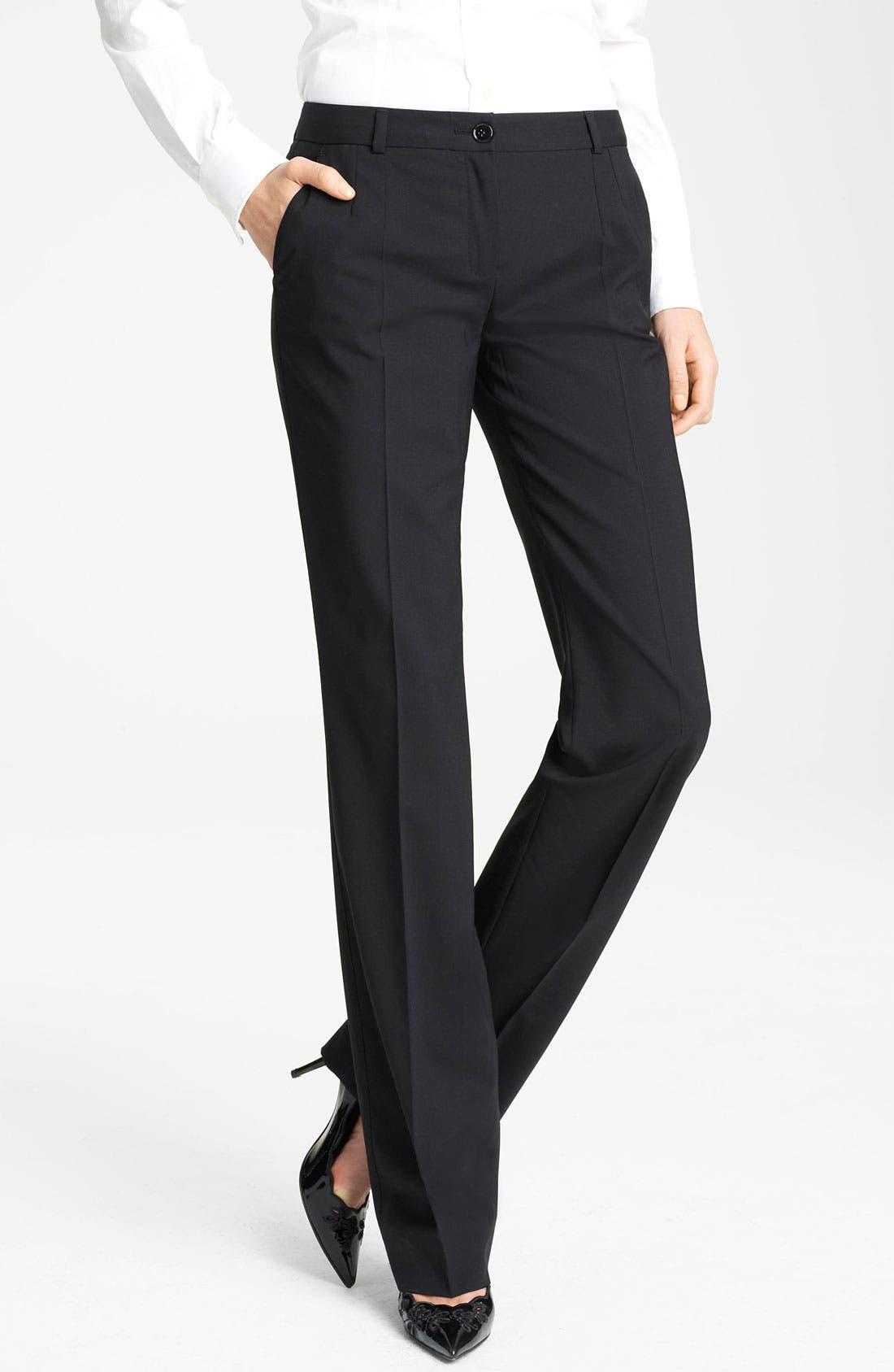 Main Image - Dolce&Gabbana Stretch Wool Pants