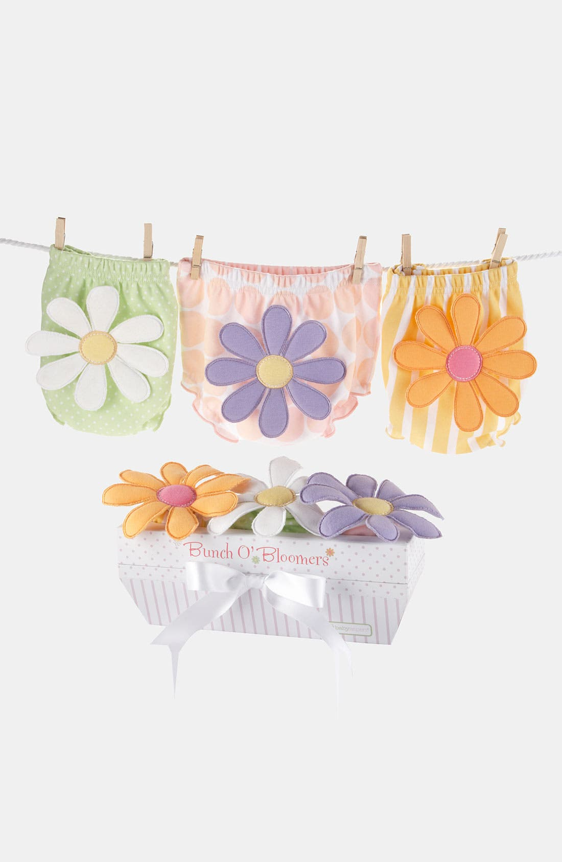 Alternate Image 3  - Baby Aspen 'Bunch O' Bloomers' Diaper Covers (3-Pack) (Baby)