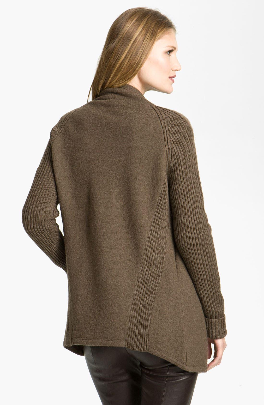 Alternate Image 2  - Vince Draped Boiled Wool Jacket