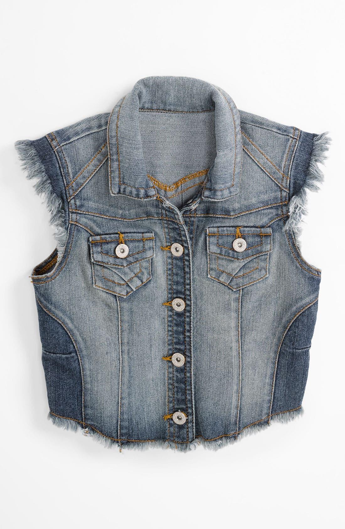 Main Image - Fire Denim Vest (Big Girls)