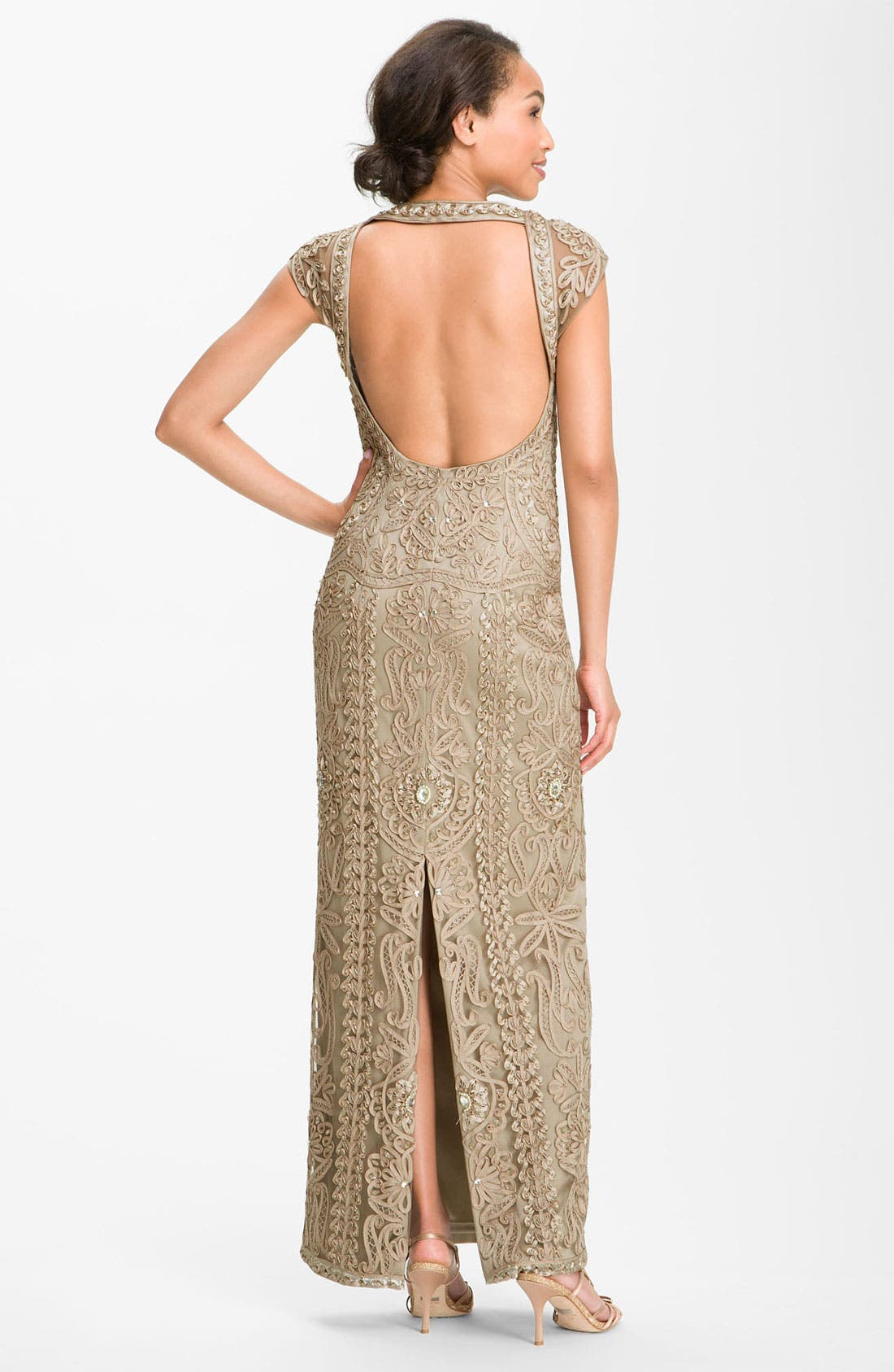 Alternate Image 2  - Sue Wong Open Back Embroidered Gown