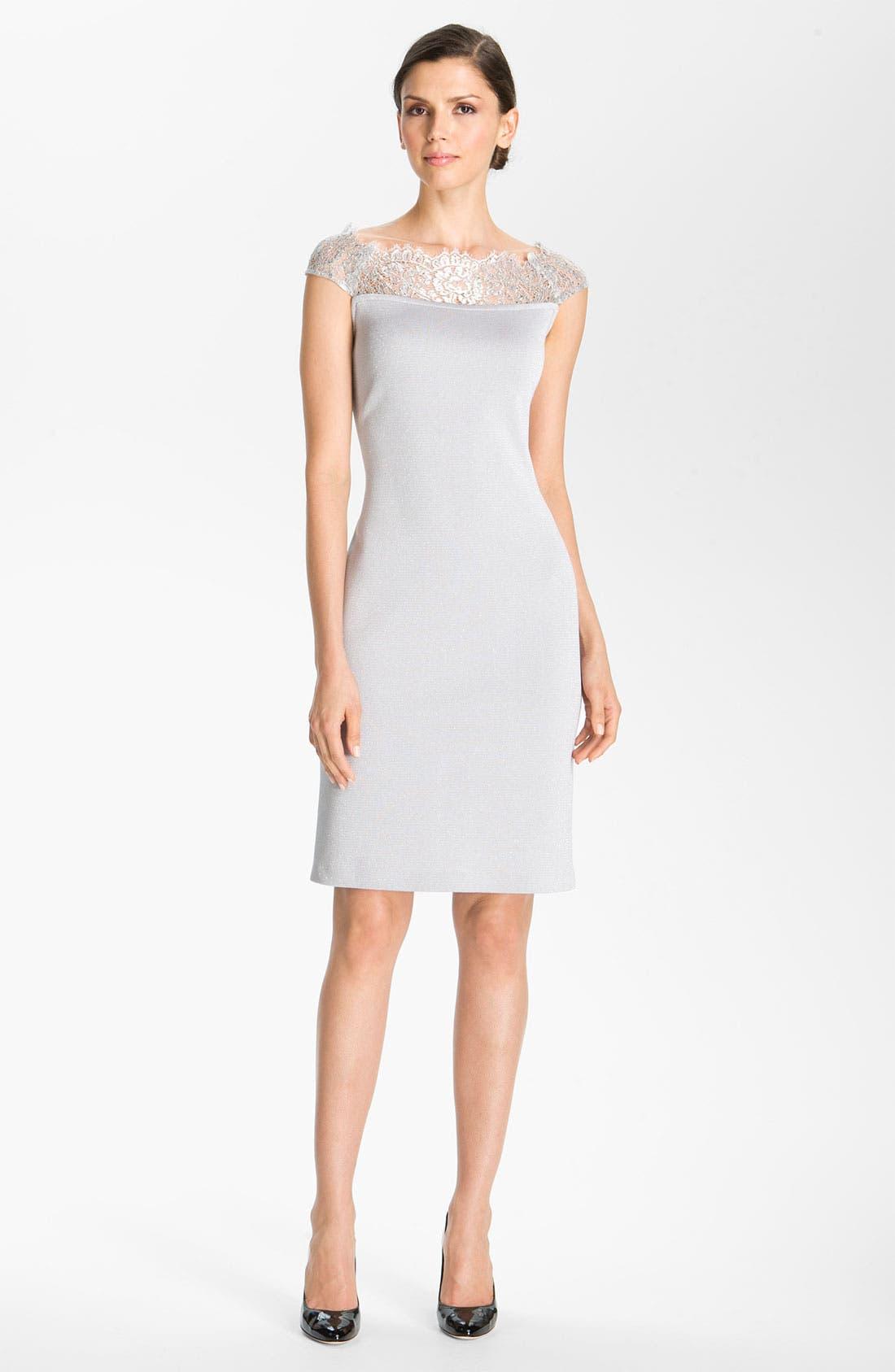 Main Image - St. John Collection Shimmer Milano Knit Dress