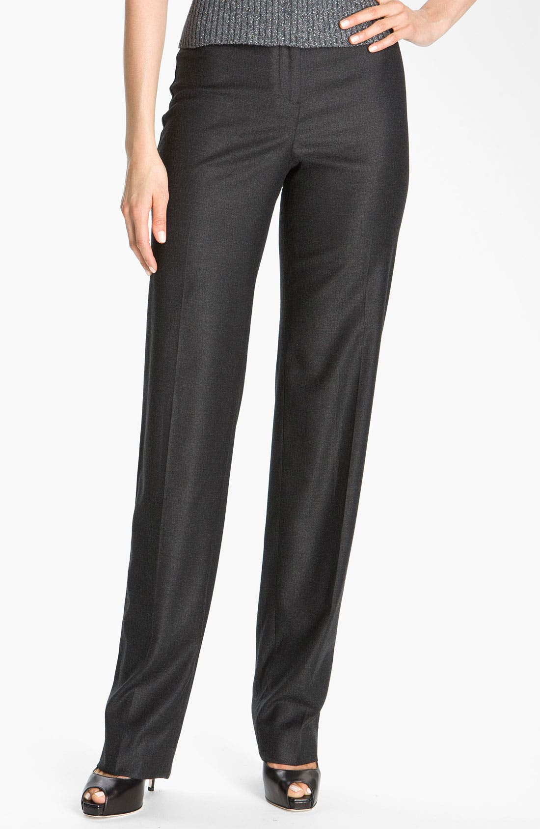 Alternate Image 2  - St. John Collection Straight Leg Stretch Flannel Pants